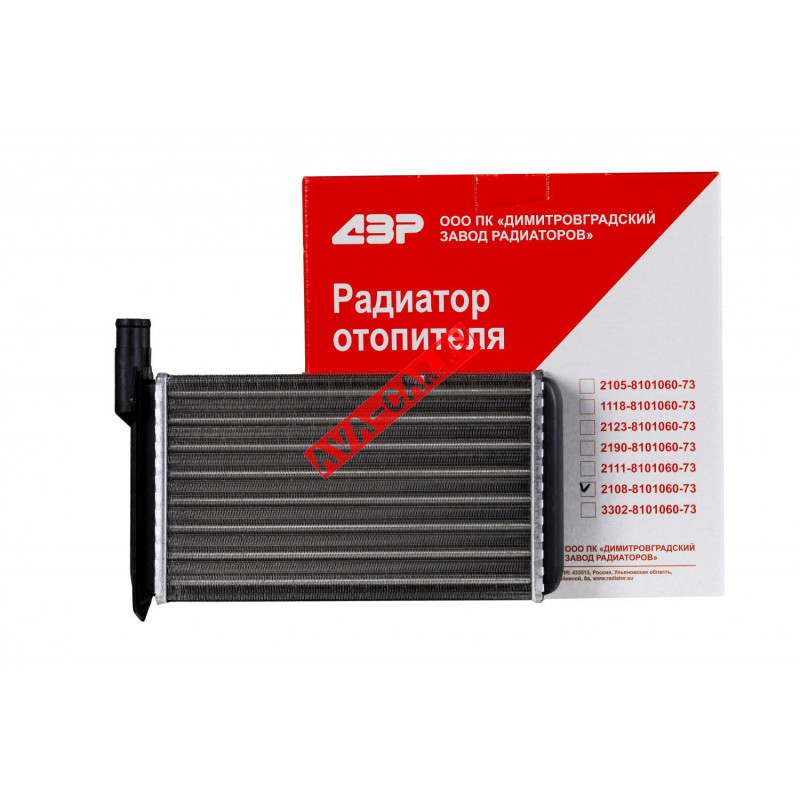 "Радиатор отопителя ВАЗ 2108, 2109,21099, 2113, 2114, 2115 ""СИБИРИЯ"" (повышенная теплоотдача)."