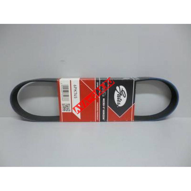 Ремень поликлиновый ВАЗ-21100-21120 8 кл. без ГУР  6PK745  GАTES