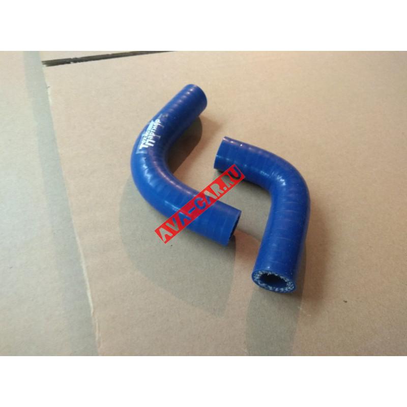 Патрубки печки  силиконовые армированные синие/красные (к-т 2 шт) ВАЗ 21213, 21214