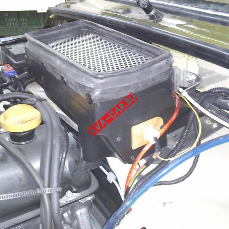 Мотор отопителя доработанный для Нивы ВАЗ 2121 пластик (Устанавливается под капот)