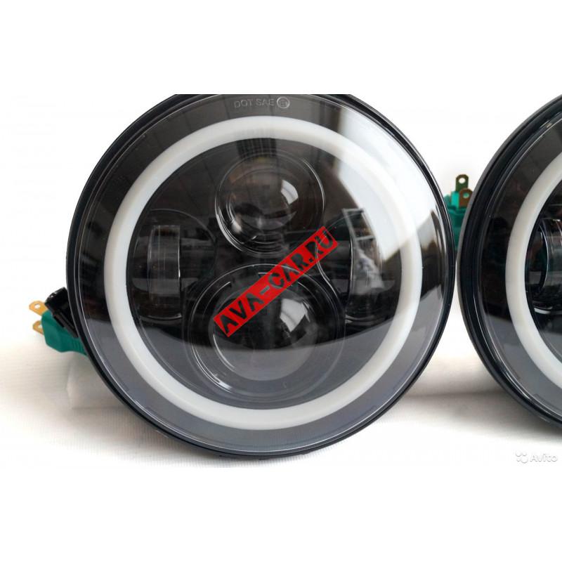 Фары HP-HLD-002 чёрные 80W LED повторитель и дхо